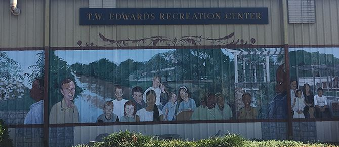 T.W. Edwards Center Mural